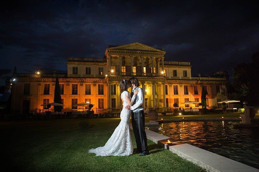 Great Wedding picture at night - Top 5 Wedding Venues In Romagna Italy