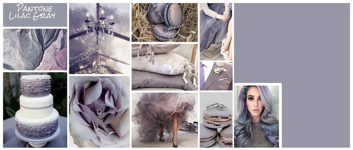 Lilac Grey Mood Board