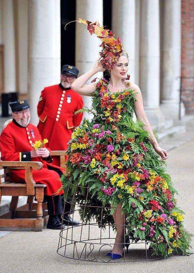 Larry Walshe Floral Dress