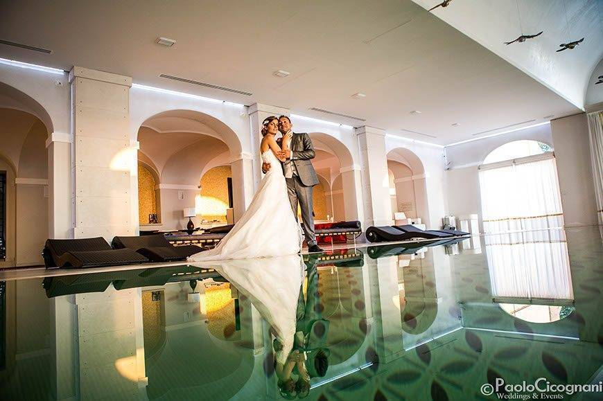 Private Villa for a Luxurious Italian Wedding Couple shoot indoor pool  - Top 5 Wedding Venues In Romagna Italy