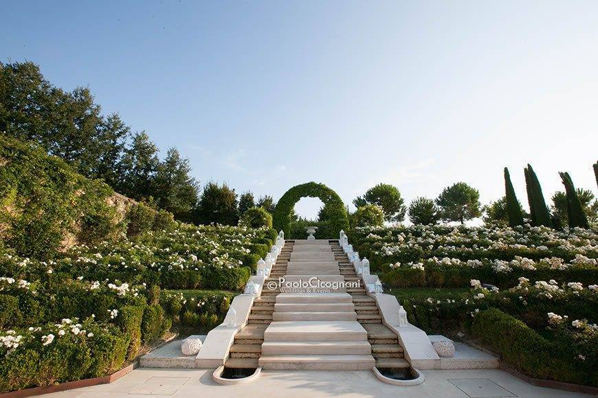 Private Villa for a Luxurious Italian Wedding Scenic Marble Staircase - Top 5 Wedding Venues In Romagna Italy