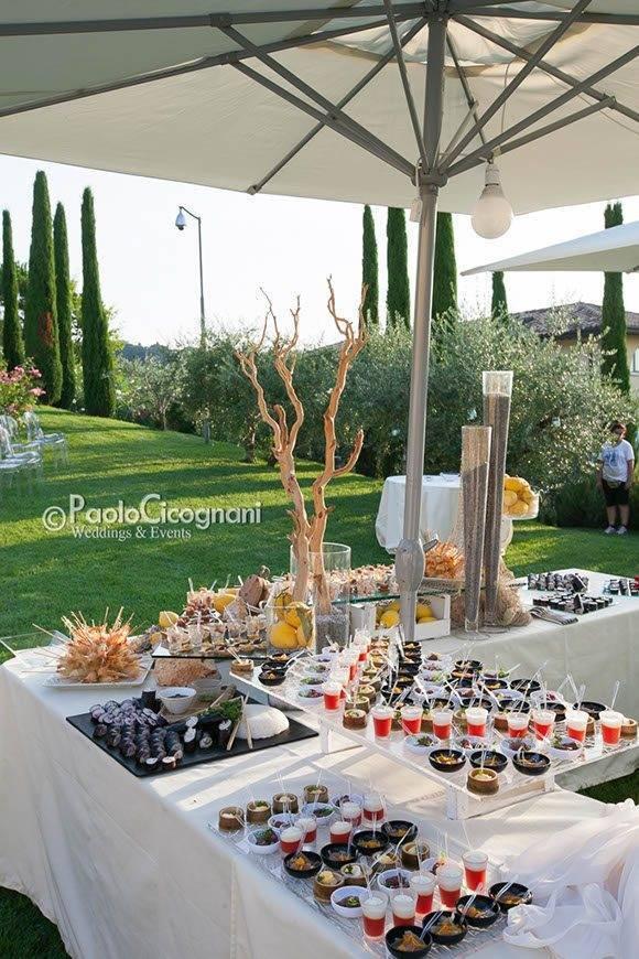 Private Villa for a Luxurious Italian Wedding Wedding Aperitif  - Top 5 Wedding Venues In Romagna Italy