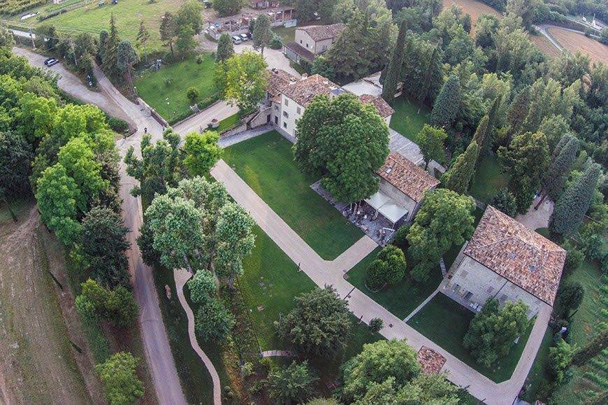 Villa air view - Top 5 Wedding Venues In Romagna Italy