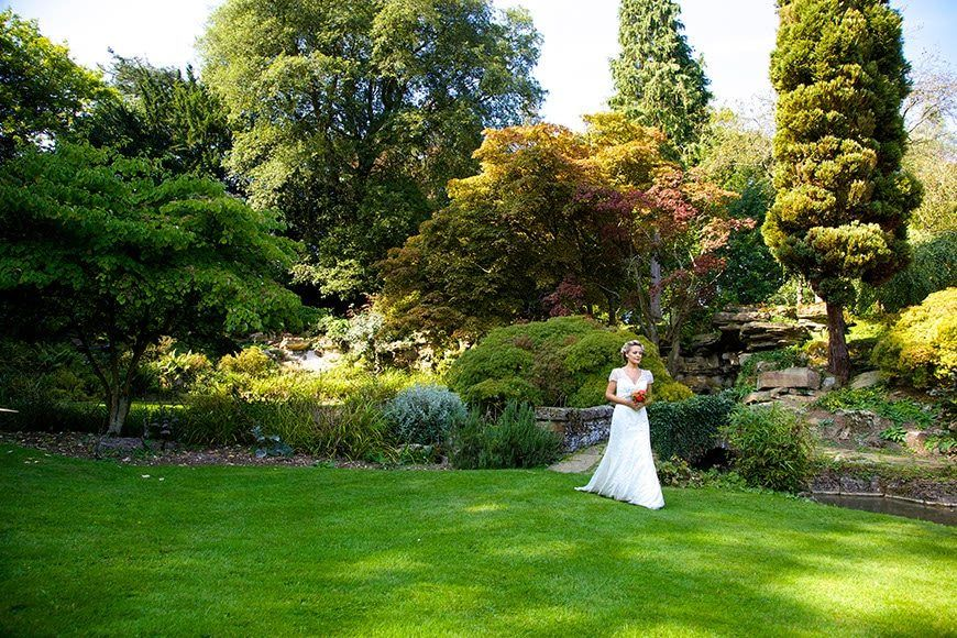 Bride in Rock Garden