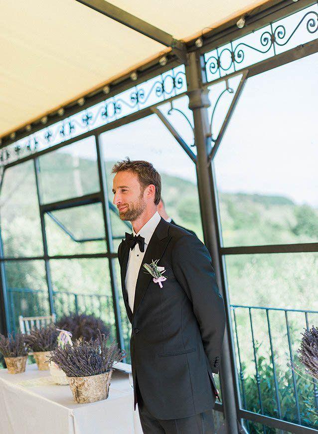 The groom awaits his beautiful bride...