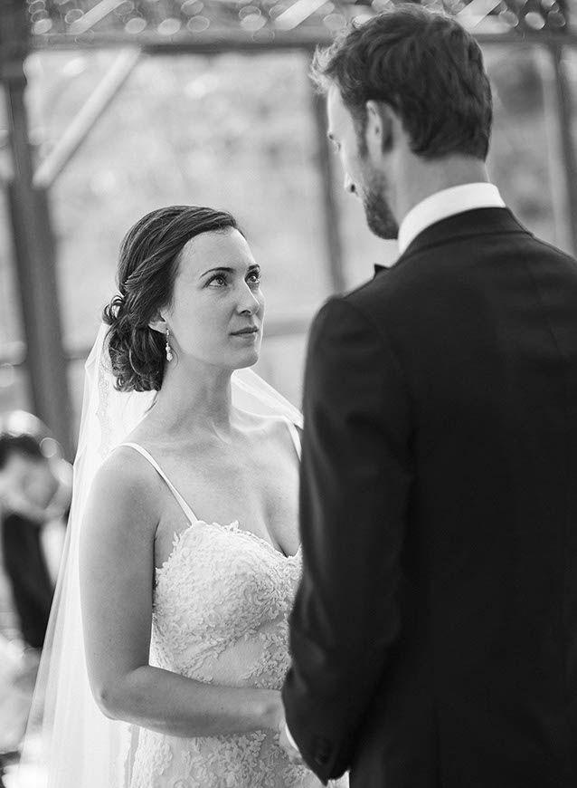 I do. The couple exchange their vows.