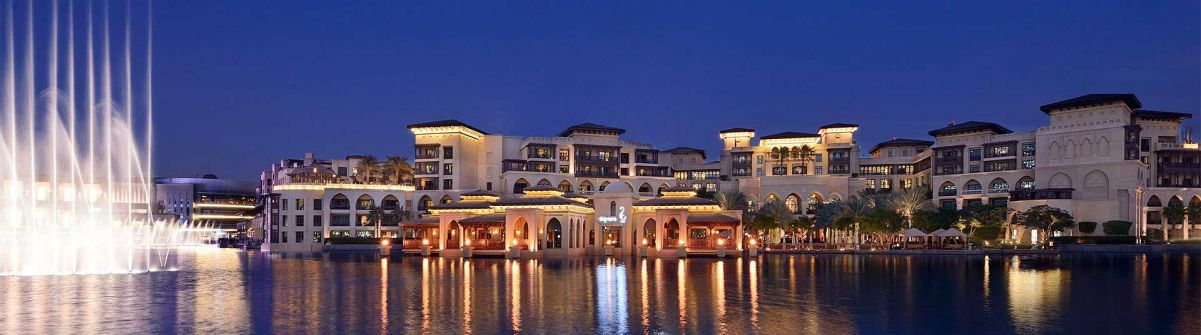 Hotel and The-Dubai-Fountain - Luxury Honeymoon Destinations