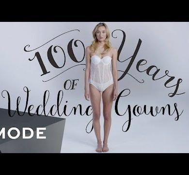100 Years Of Wedding Dresses in 3 Minutes 1