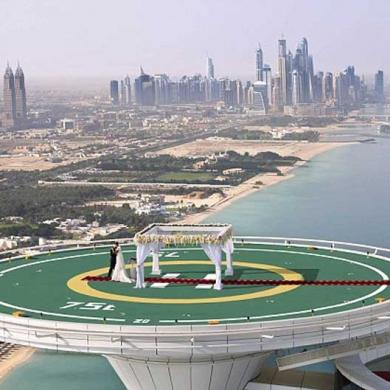 Burj Al Arab Offers Weddings On The Helipad