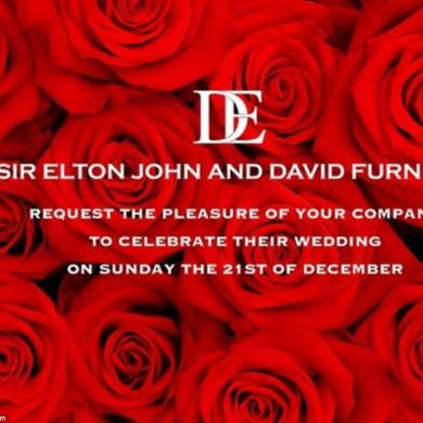 A Christmas Winter Wedding For Sir Elton John And David Furnish