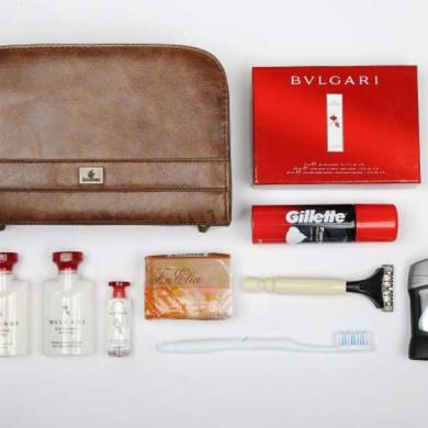 Great on-board amenity kits hand out