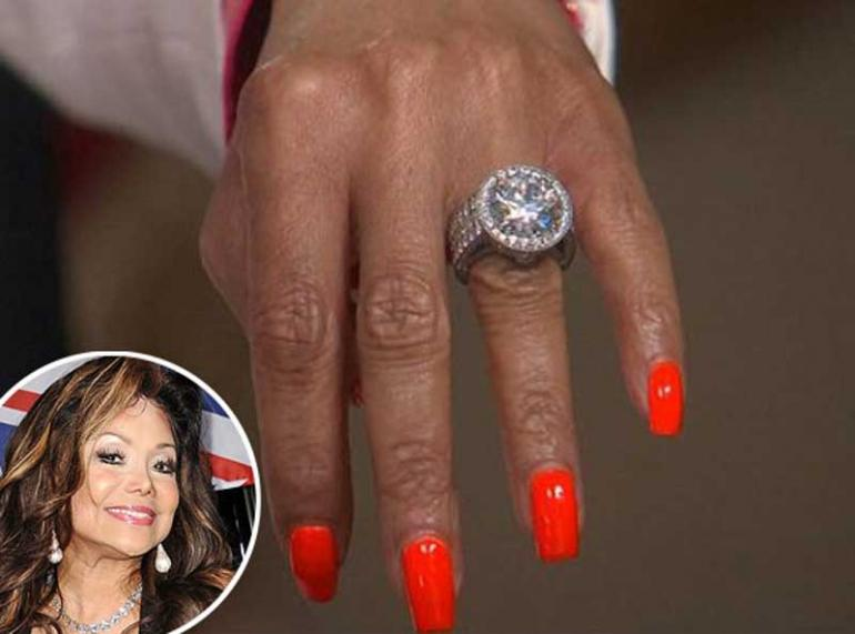 La Toya Jackson 17.5 Carat Engagement Ring