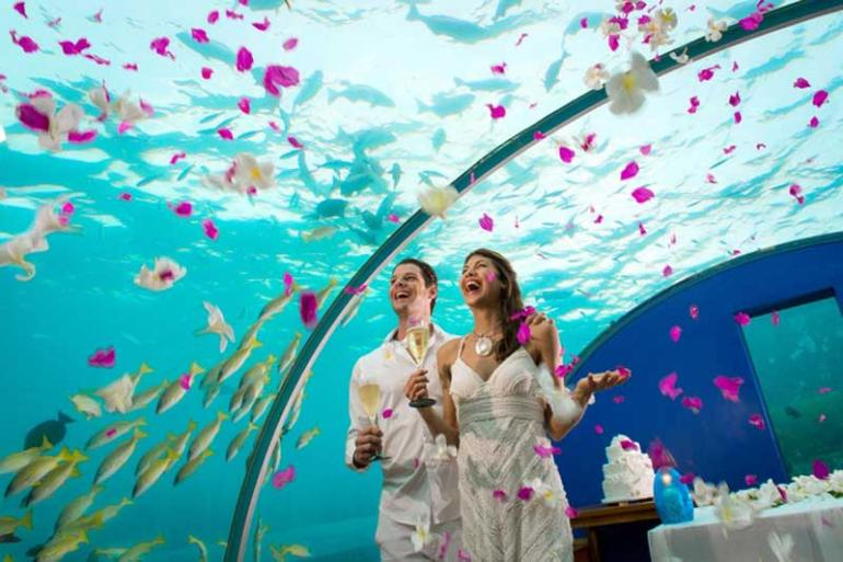 Underwater Weddings at Conrad Maldives Rangali Island