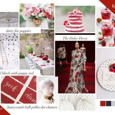 Valentines Day Inspiration Mood Board, Dotty for Poppies