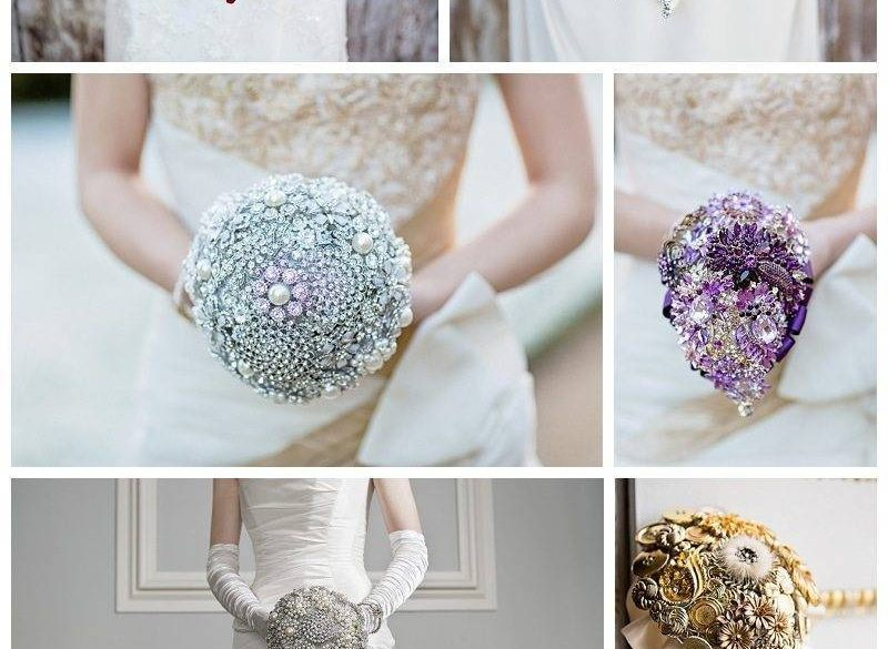 Jewel & Button Bouquets by The Finer Details