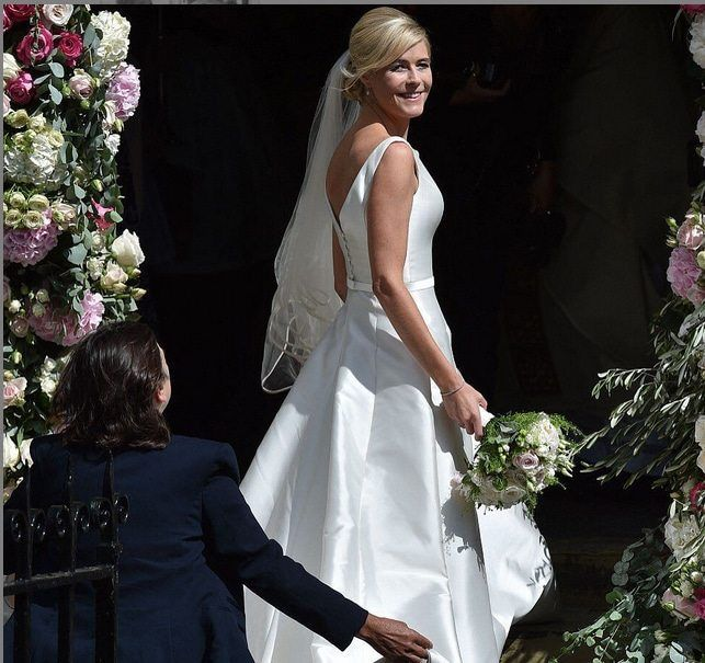 Declan Donnelly's Girl Glows in Phillipa Lepley Gown at Newcastle Wedding