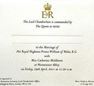 The Royal Wedding Guest List