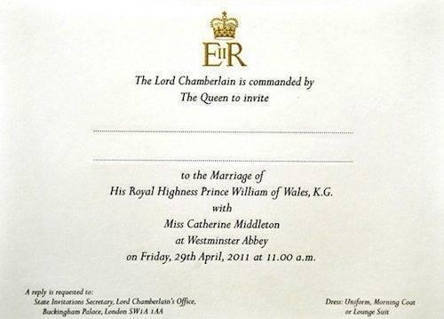 The Royal Wedding Guest List