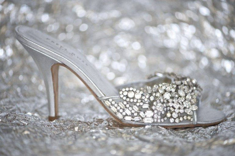 Every girls dream, vintage inspired wedding shoes!