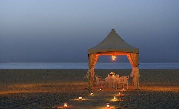 Ritz Carlton, Dubai - Dinner by the Beach