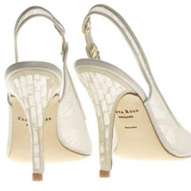 Wedding Shoe Designer Launch Mother Of Pearl Heel