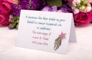 Jenny Packham Creates Wedding Favour For Cancer Research UK