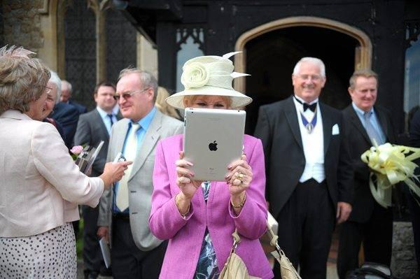 Apple IPad Wedding Photographer