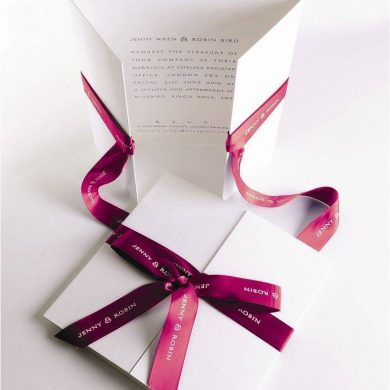 Bespoke Wedding Stationery by The Wren Press