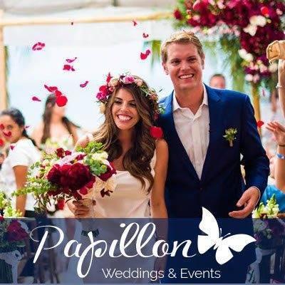About US with logo Papillon Letras blanca - Papillon Weddings & Events – Portfolio