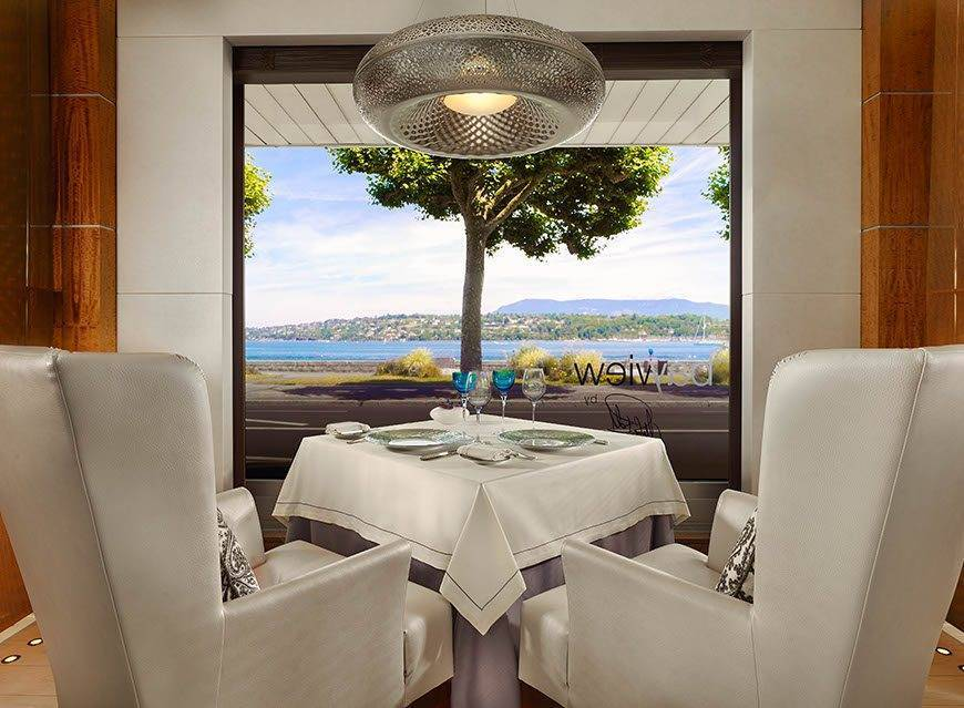 Bayview by Michel Roth restaurant with lake view Hotel President Wilson a Luxury Collection Hotel Geneva - Luxury Wedding Gallery