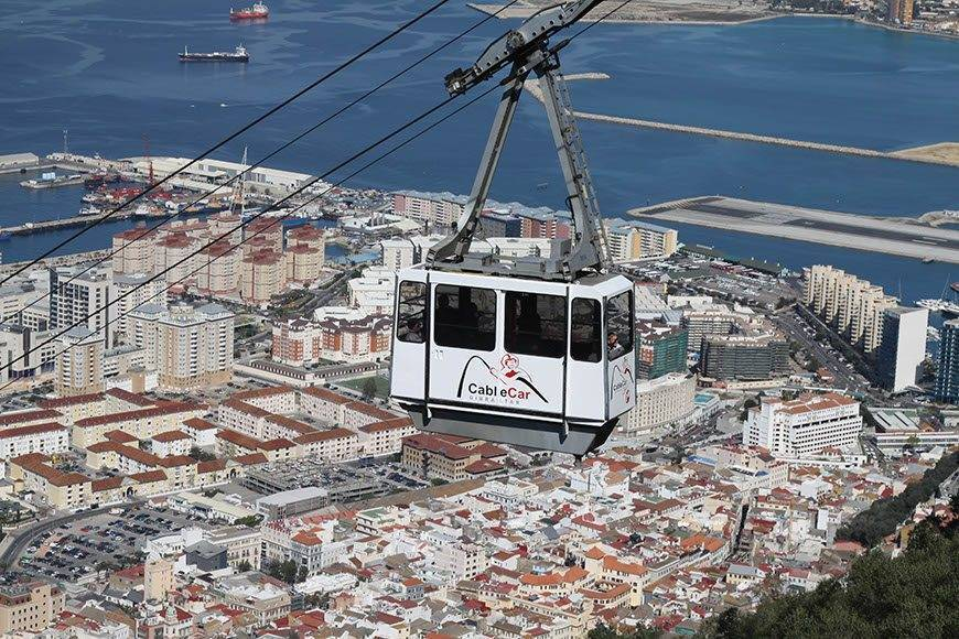 Cable Car over town 02 - Luxury Wedding Gallery