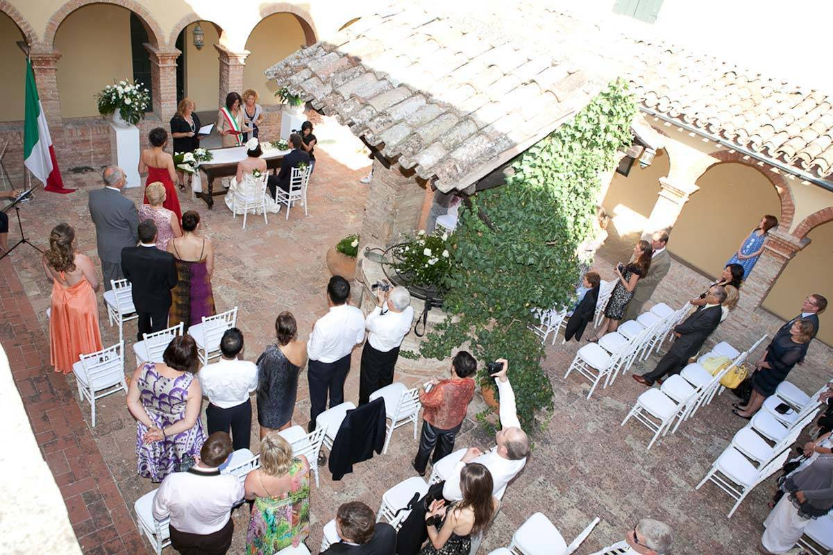 Ceremony in the cloisters - Luxury Wedding Gallery