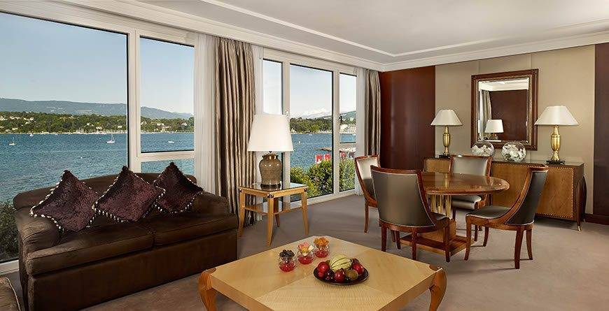Crown Suite living area Hotel President Wilson a Luxury Collection Hotel Geneva - Luxury Wedding Gallery