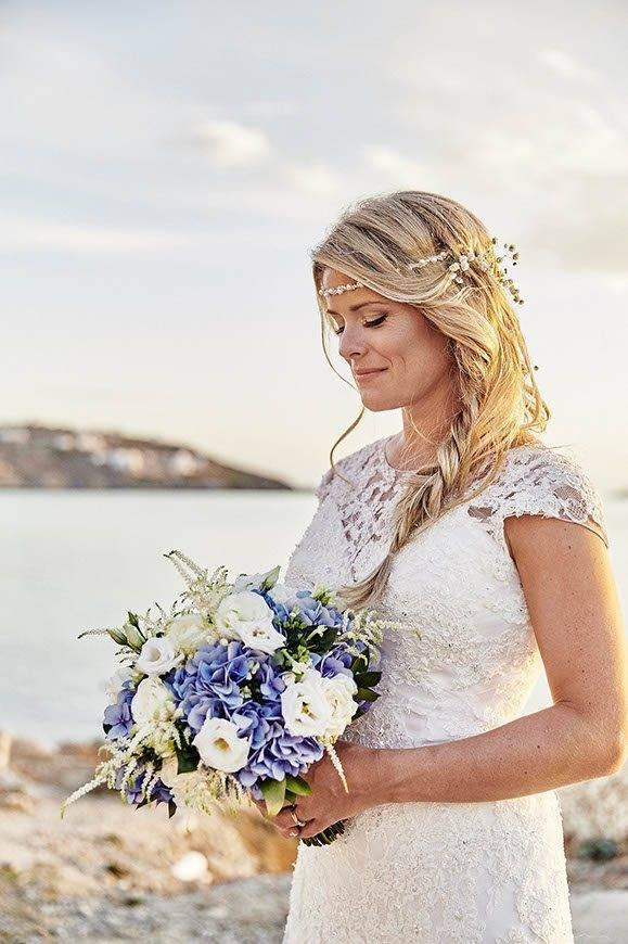 Dream Weddings Mykonos Bridal bouquet - Luxury Wedding Gallery