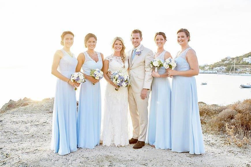 Dream Weddings Mykonos Bridal party - Luxury Wedding Gallery