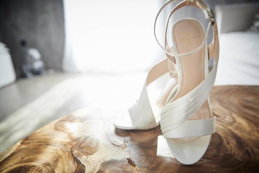 Dream Weddings Mykonos Bridal shoes - Luxury Wedding Gallery
