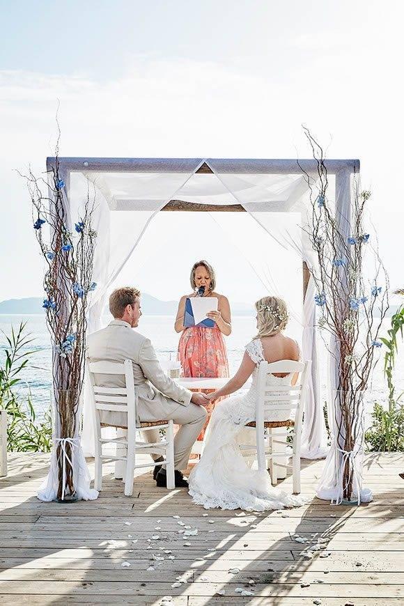 Dream Weddings Mykonos Mykonos beach wedding ceremony - Luxury Wedding Gallery