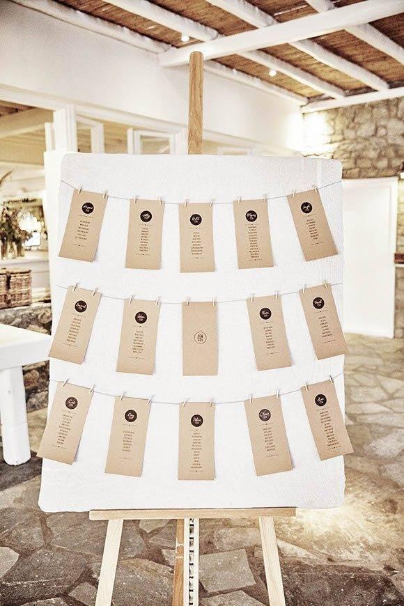 Dream Weddings Mykonos Seating plan - Luxury Wedding Gallery