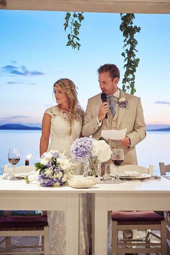 Dream Weddings Mykonos Welcome speach - Luxury Wedding Gallery