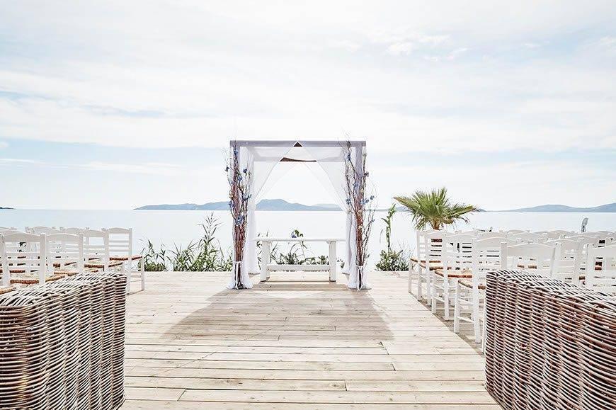 Dream Weddings Mykonos wedding ceremony alter - Luxury Wedding Gallery