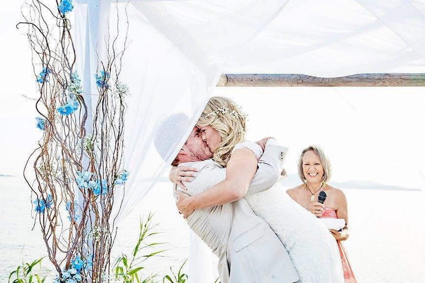 Dream Weddings Mykonos you may kiss the bride - Luxury Wedding Gallery