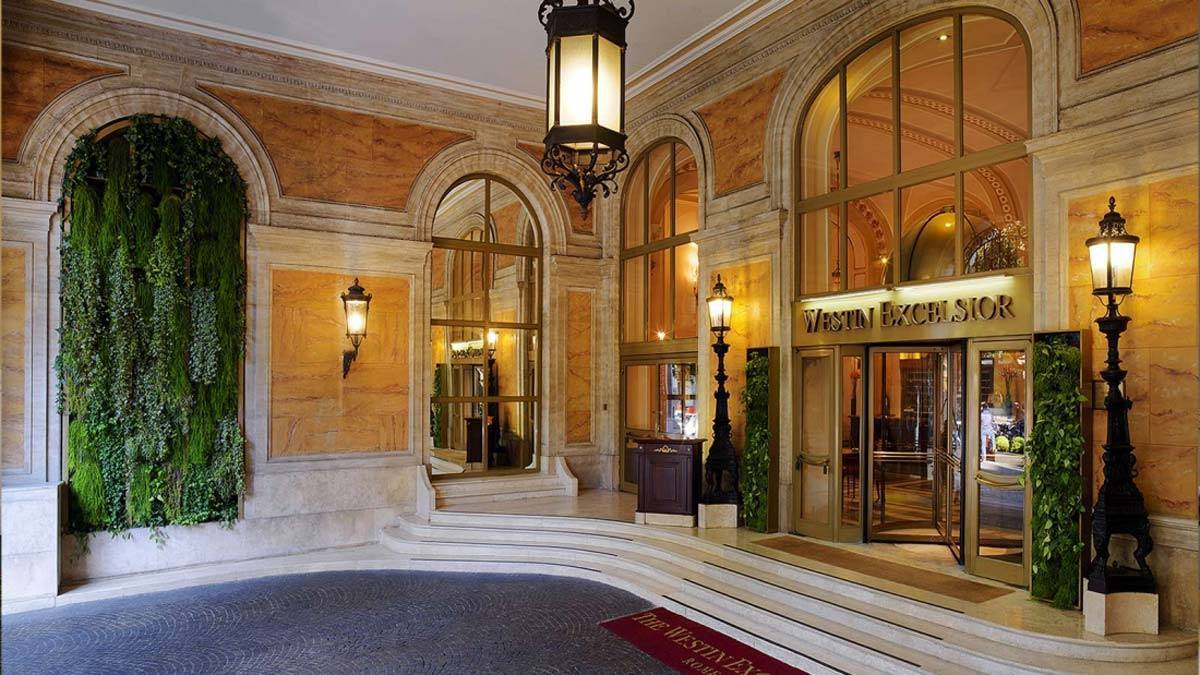 Entrance The Westin Excelsior Rome - Luxury Wedding Gallery