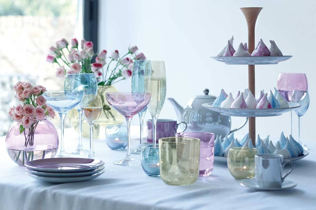 LSA INTERNATIONAL POLKA TABLEWARE PASTEL 1 - Luxury Wedding Gallery