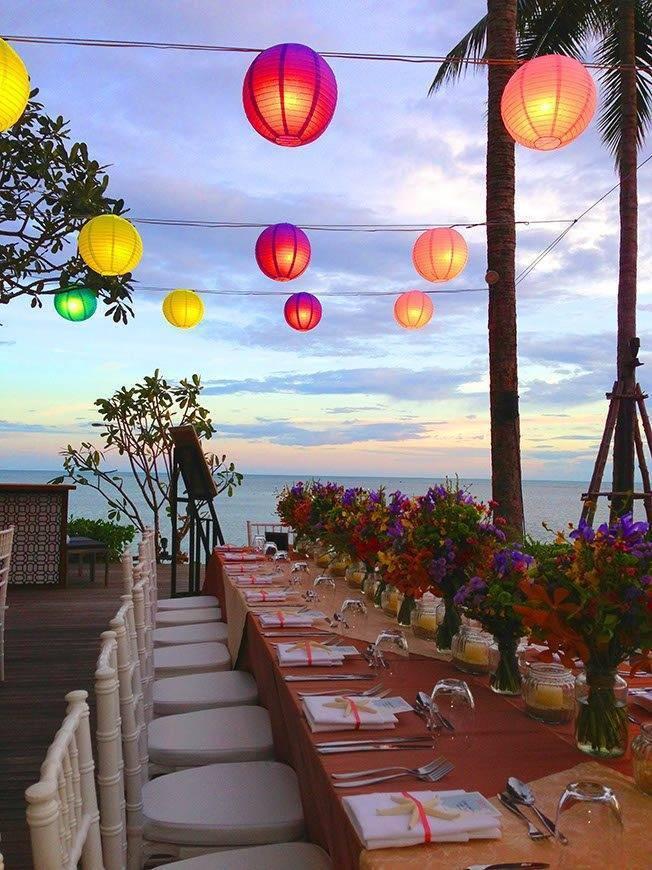 Le Me%CC%81ridien Koh Samui Resort Spa Dinner at Pool Deck 02 - Luxury Wedding Gallery