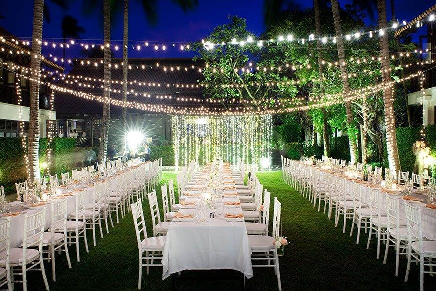 Le Me%CC%81ridien Koh Samui Resort Spa Dinner at The Lawn - Luxury Wedding Gallery