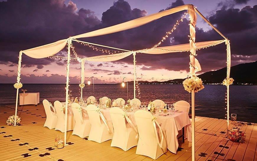 Le Me%CC%81ridien Koh Samui Resort Spa Private Group Dinner at Ocean Pier - Luxury Wedding Gallery