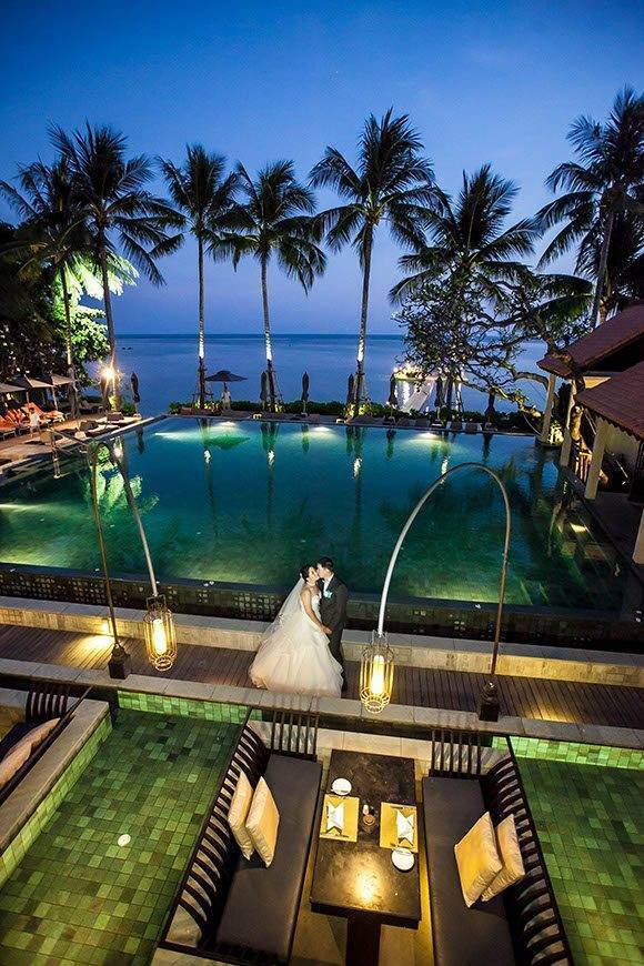 Le Me%CC%81ridien Koh Samui Resort Spa View from Latest Reciep Poolside Restaurant - Luxury Wedding Gallery