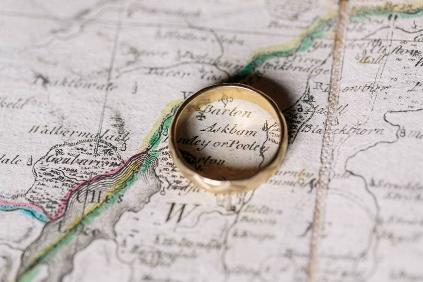 Map and ring - Luxury Wedding Gallery