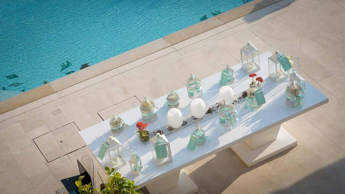 Table plan beside the pool - Luxury Wedding Gallery