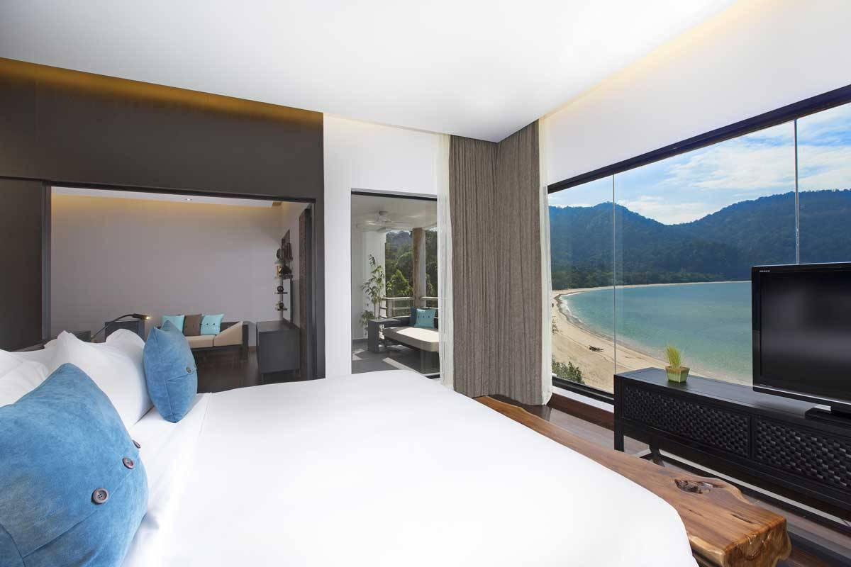 The-Andaman-Resort-Executive-Seaview-Suite-Bedroom-with-Full-Datai-Bay-View